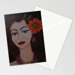 Gypsy with green eyes Stationery Cards