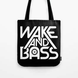 Wake And Bass (White) Tote Bag