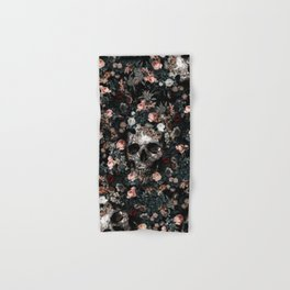 Skull and Floral pattern Hand & Bath Towel