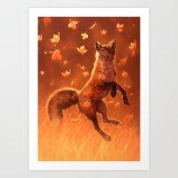 Jump Into Fall Art Print