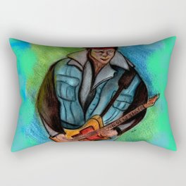 The guitar man Rectangular Pillow