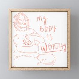 My Body Framed Mini Art Print