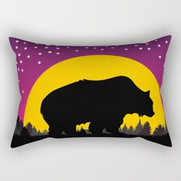 Bear Stars Moon Rectangular Pillow