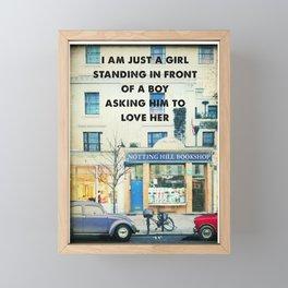 Notting Hill travel movie art Framed Mini Art Print