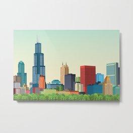 City Chicago Metal Print
