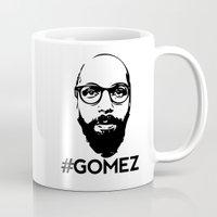 selena gomez Mugs featuring Gomez - Black by Dominic DiMaria