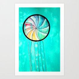 the waiting jellyfish Art Print