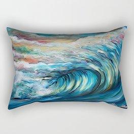 The Rainbow Wave Rectangular Pillow