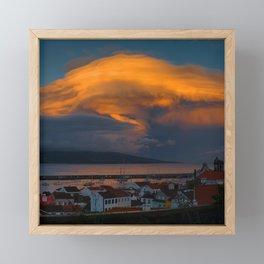 Storm Over Pico Framed Mini Art Print