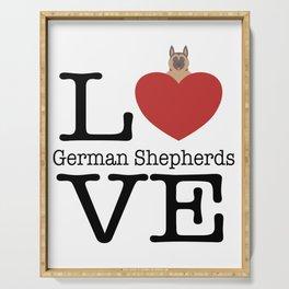 Love Cute German Shepherds Serving Tray