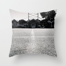 Bowling architecture Throw Pillow