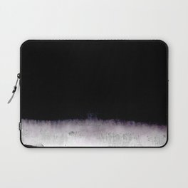 black and gray abstract landscape painting Laptop Sleeve