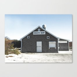 Cape Cod Beach Snack Bar Off Season Canvas Print