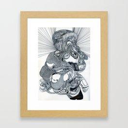 FOSSIL HOOKER Framed Art Print