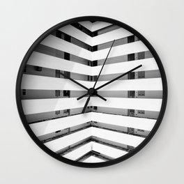 Folded Lines Wall Clock