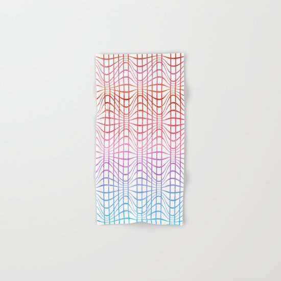 Straight and curved lines - Optical Game 19 Hand & Bath Towel