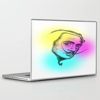 salvador dali Laptop & iPad Skins featuring Salvador Dali CMYK by Akatattoo