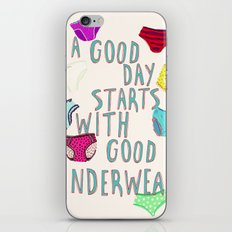 Underwear Happiness iPhone & iPod Skin