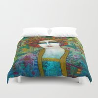 aquarius Duvet Covers featuring AQUARIUS by ALBENA