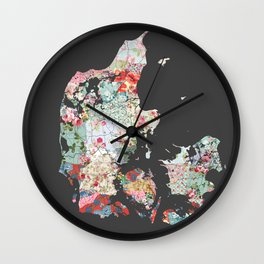 Danemark map #2 Wall Clock