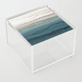 WITHIN THE TIDES - CRASHING WAVES TEAL Acrylic Box