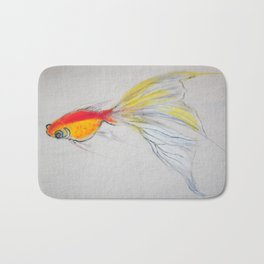 Goldfish Pond (close up#1) #society6 #decor #buyart Bath Mat