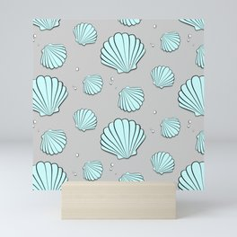 Sea shell jewel pattern Mini Art Print