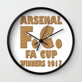 Scrabble Arsenal FA Cup Wall Clock