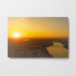Sunset in Seoul Metal Print