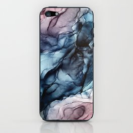 Blush and Darkness Abstract Paintings iPhone Skin