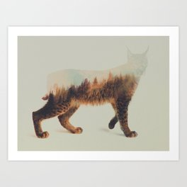 Norwegian Woods: The Lynx Art Print