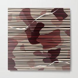 Swash Pattern Metal Print