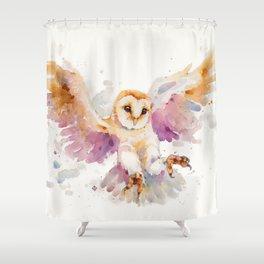 Twilight Owl Shower Curtain