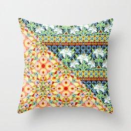 Tangerine Confetti Lilies Throw Pillow