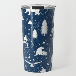 Arctic Circle - Blue Travel Mug