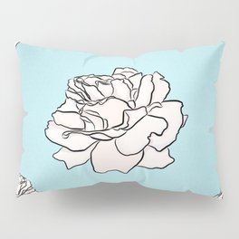 Powdered Blue Roses Pillow Sham