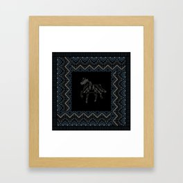 Ethnic pattern with american indian traditional ornament. Tribal background. Framed Art Print