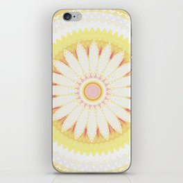 Sunshine Yellow Flower Mandala Abstract iPhone Skin