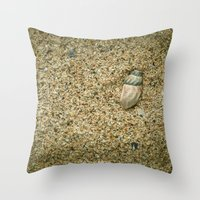 seashell Throw Pillows featuring Seashell by Errne