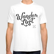 Wanderlust SMALL White Mens Fitted Tee