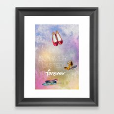 If only summer lasted forever...  Framed Art Print