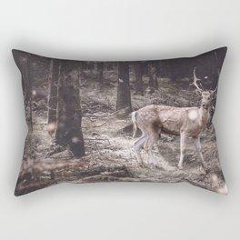 Lucky deer-magic wand in teeth Rectangular Pillow