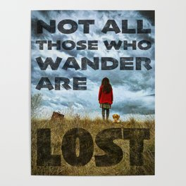 Not Lost - painting by Brian Vegas Poster