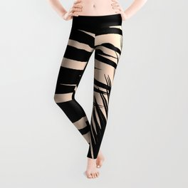 Palms on Pale Pink Leggings