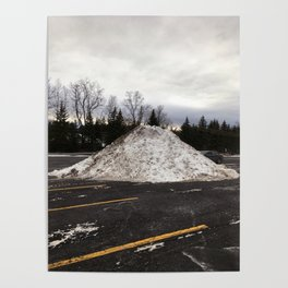 Snow Mound at the Mall Poster
