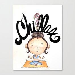 Chill Gal Canvas Print