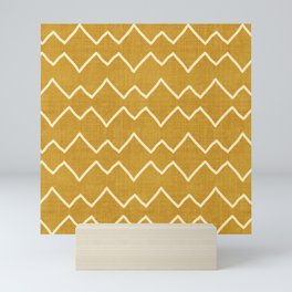 Urbana in Gold Mini Art Print