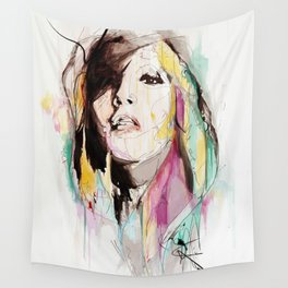 Her Impression Caught Wall Tapestry