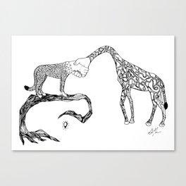 Giraffe/Cheetah Canvas Print