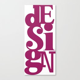 dESigN Canvas Print